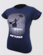 Mary Poppins Logo Navy Tee - Ladies